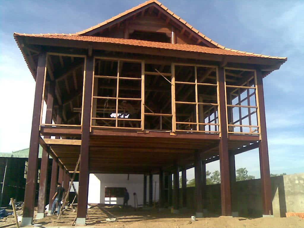 thiet ke va thi cong nha go dep 19122011001 - Thiết kế và thi công nhà gỗ đẹp