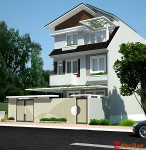 tu-van-thiet-ke-nha-pho-8x20m-dep-theo-xu-huong- nhà 2 tầng 8x20m