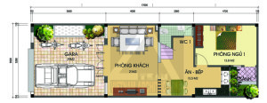 xay nha 1nhà 2 tầng 5x17m 300x116 - Mẫu thiết kế nhà 5x17m đẹp