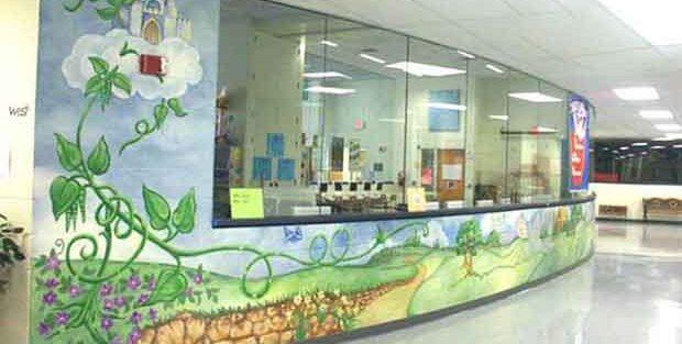 Vẽ tranh tường quán cafe take away