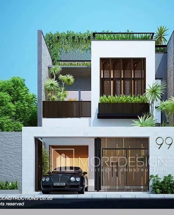 biet thu co gara oto dep abc - Mẫu thiết kế nhà 2.5 tỷ đẹp