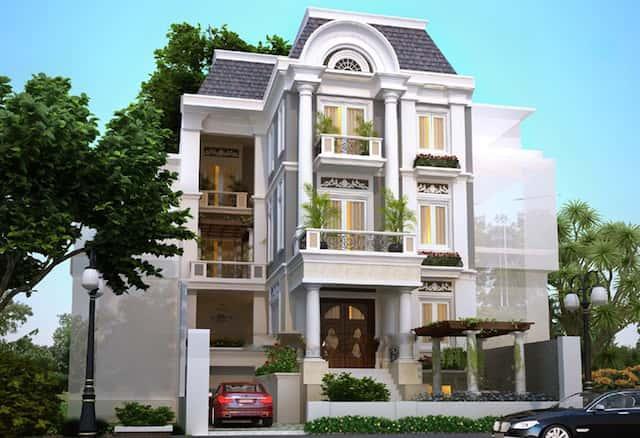 biet thu co tang ham btcth001 - Thiết kế biệt thự 3 tầng đẹp