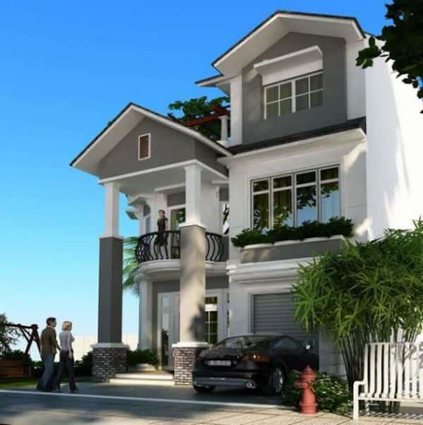 biet thu cong tang ham 6 - Thiết kế biệt thự 3 tầng có tầng hầm đẹp