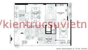 mat bang tang 2 300x171 - Kts Nguyễn Văn Trình tư vấn thiết kế biệt thự Viêng Chăn Lào