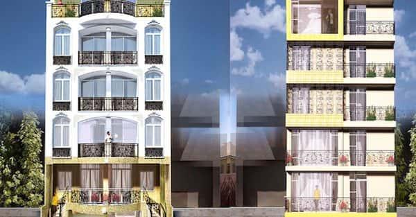 Thiết kế nhà 7 tầng đẹp