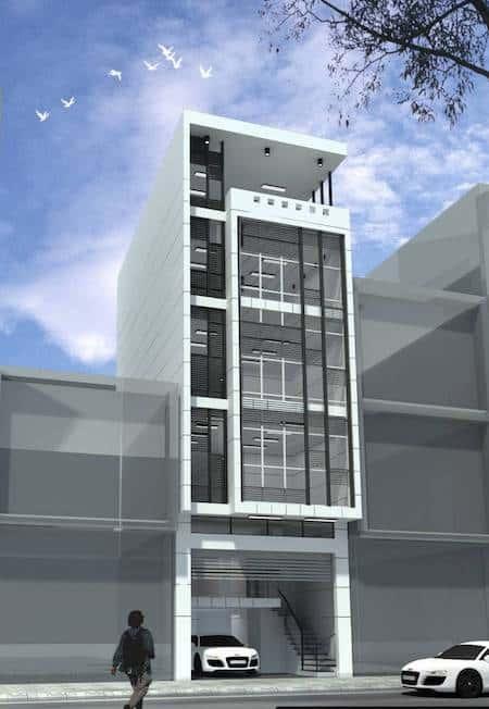 mau nha 6 tang dep - Thiết kế nhà 6 tầng đẹp