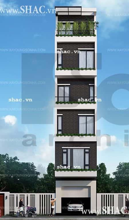 mau nha dep 6 tang - Thiết kế nhà 6 tầng đẹp