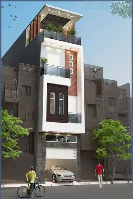 nha 6 tang dep hien dai - Thiết kế nhà 6 tầng đẹp