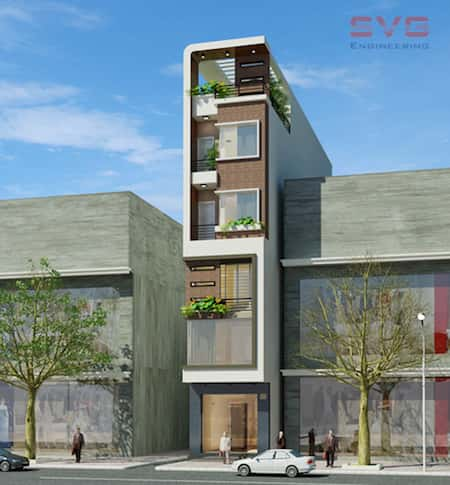 nha pho 6 tang dep - Thiết kế nhà 6 tầng đẹp