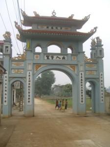 thiet ke kien truc cong lang dep cổng làng Chùa 225x300 - Kiến trúc và văn hóa cổng làng người Việt