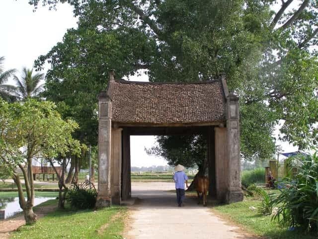 thiet ke kien truc cong lang dep cau truc lang Viet conglang tinmoi.vn  - Kiến trúc và văn hóa cổng làng người Việt
