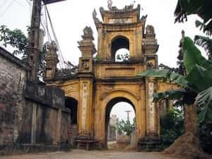 thiet ke kien truc cong lang dep lang cuu 300x225 - Kiến trúc và văn hóa cổng làng người Việt