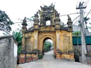 thiet ke kien truc cong lang dep langCuu01 300x225 - Kiến trúc và văn hóa cổng làng người Việt