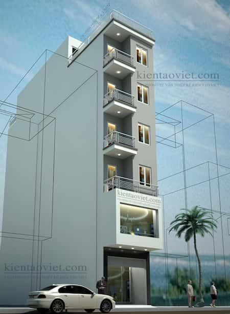 thiet ke nha 6 tang - Thiết kế nhà 6 tầng đẹp