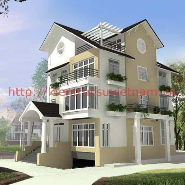thiet ke nha biet thu co tang ham dep 001 mau biet thu co tang ham mau 1 - Các dự án thiết kế nhà biệt thự có tầng hầm đẹp đã thực hiện