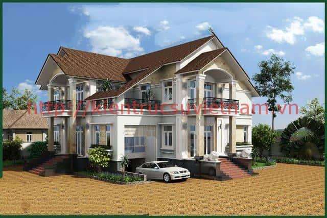 thiet ke nha biet thu co tang ham dep 001a - Các dự án thiết kế nhà biệt thự có tầng hầm đẹp đã thực hiện