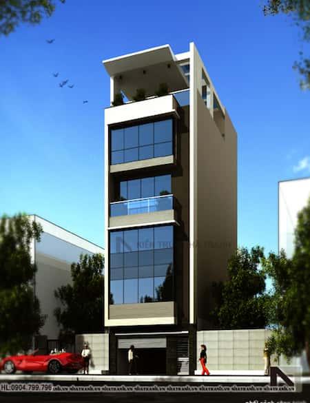 thiet ke nha lo dep 6 tang - Thiết kế nhà 6 tầng đẹp