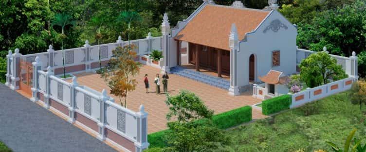 Thi công nhà thờ họ, nhà từ đường