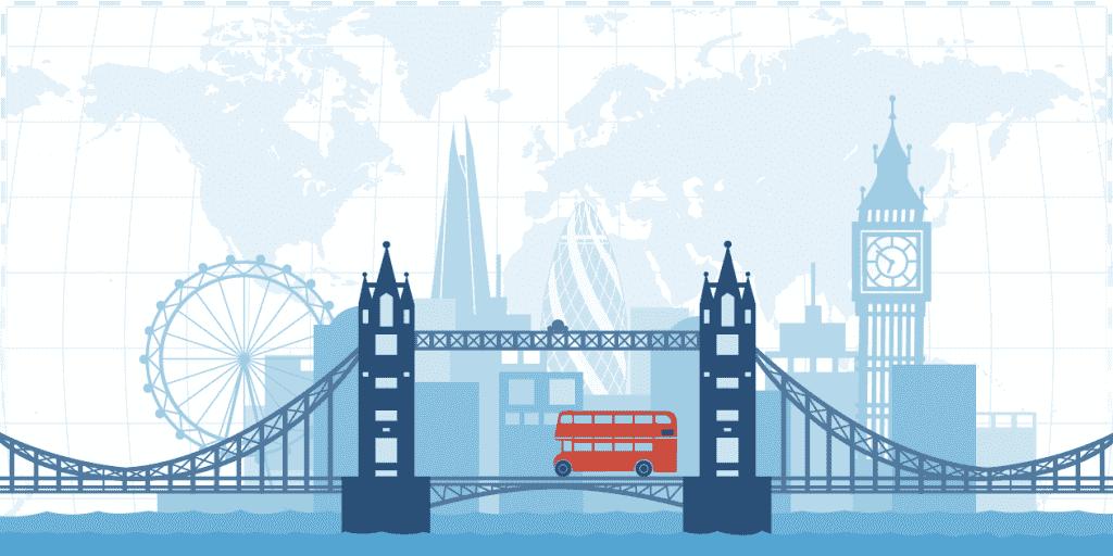 tranh tuong phong hoc tieng anh header london - Vẽ tranh tường trung tâm ngoại ngữ