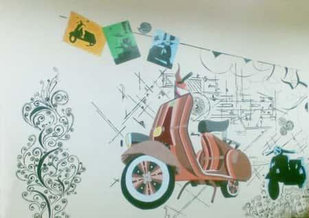 tranh tuong phong hoc tieng anh vespa2622010 - Vẽ tranh tường trung tâm ngoại ngữ