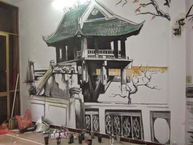 tranh tuong quan cafe sua dep 5ce1b ve tranh tuong quan cafe hoang duy6 e1619110062655 - Vẽ tranh tường quán Cafe 2d, 3d cực đẹp theo yêu cầu đảm bảo tiến độ
