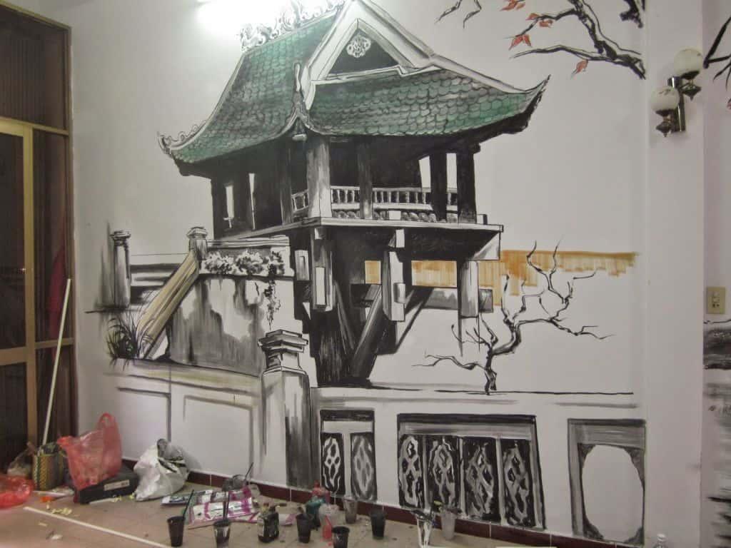 tranh tuong quan cafe sua dep 5ce1b ve tranh tuong quan cafe hoang duy6 - Vẽ tranh tường quán Cafe