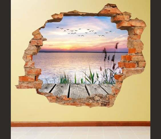 ve tranh tuong 3d dep 1 - Vẽ Tranh Tường 3D đẹp