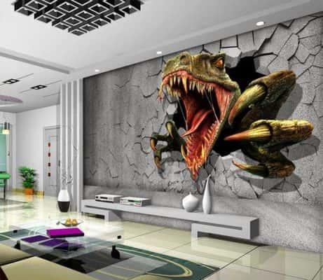 ve tranh tuong 3d dep po 461x400 - Vẽ tranh tường 3d phòng khách