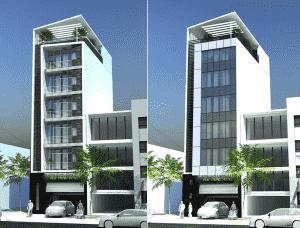 mau khach san nha nghi 03 1 300x228 - Thiết kế khách sạn nhà nghỉ ở tại Bắc Ninh