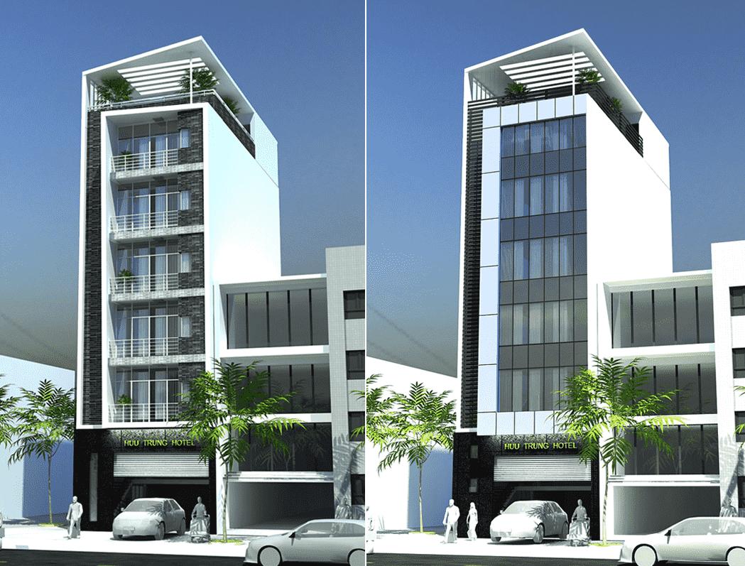 Thiết kế khách sạn ven đường