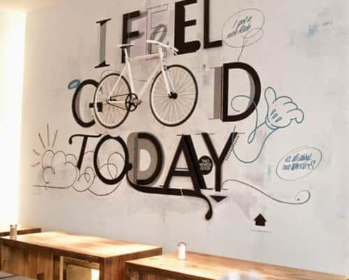 mau tranh tuong quan cafe 2 - Vẽ tranh tường quán Cafe