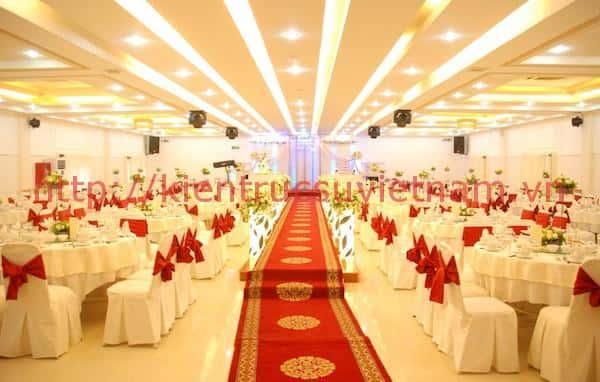 thiet ke nha hang tiec cuoi 1 - Thiết kế trung tâm tổ chức sự kiện nhà hàng tiệc cưới