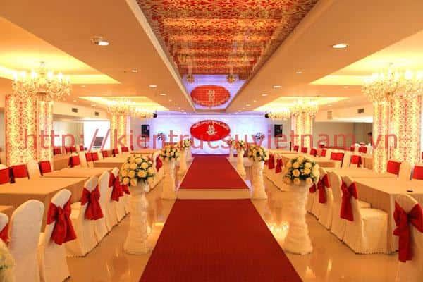 thiet ke nha hang tiec cuoi 2 - Thiết kế trung tâm tổ chức sự kiện nhà hàng tiệc cưới