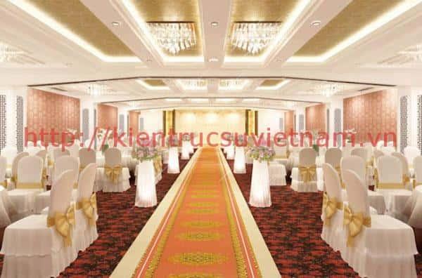 thiet ke nha hang tiec cuoi 4 - Thiết kế trung tâm tổ chức sự kiện nhà hàng tiệc cưới