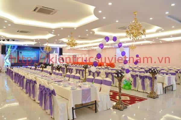 thiet ke nha hang tiec cuoi 6 - Thiết kế trung tâm tổ chức sự kiện nhà hàng tiệc cưới