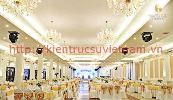 Thiết kế trung tâm tổ chức sự kiện nhà hàng tiệc cưới
