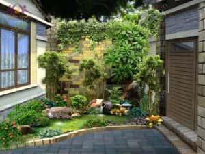thiet ke tieu canh dep 13 300x225 - Tiểu cảnh sân vườn nhỏ