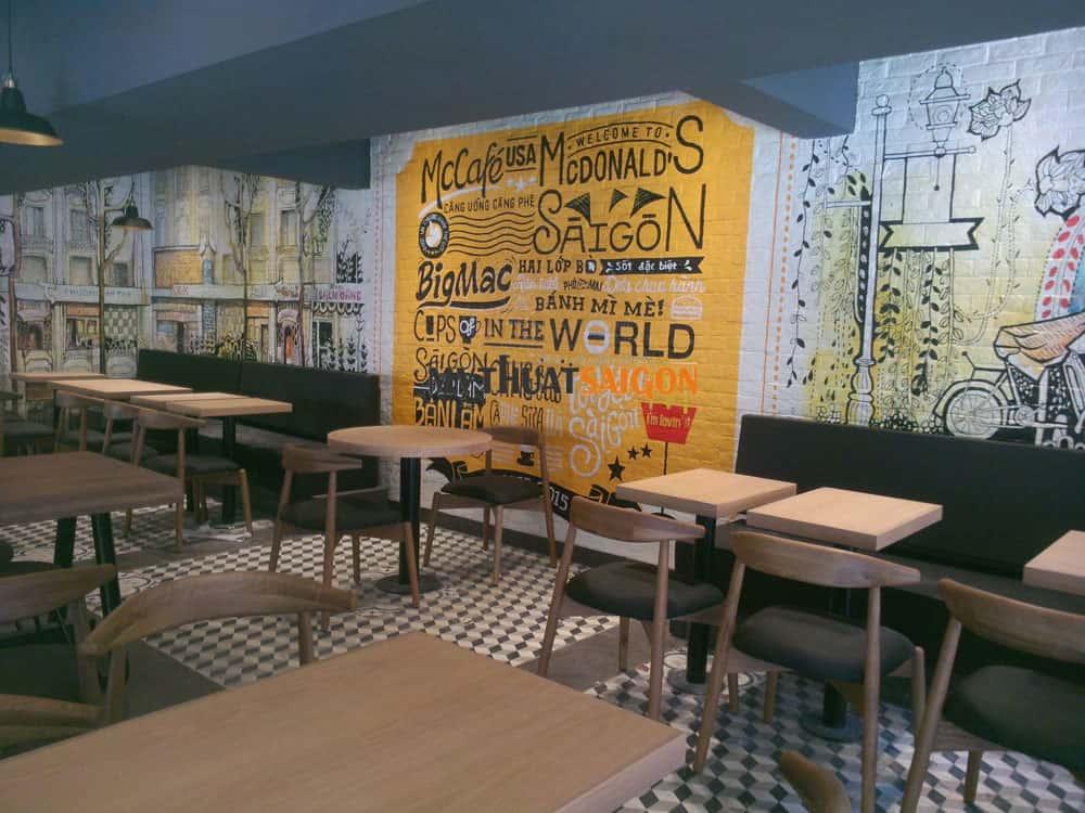 ve tranh tuong quan cafe - Những phong cách kiến trúc cafe được ưa chuông hiện nay