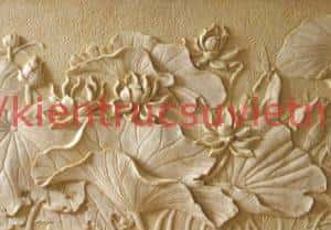 phu dieu hoa sen 1 300x209 - Đắp tranh phù điêu hoa sen đẹp