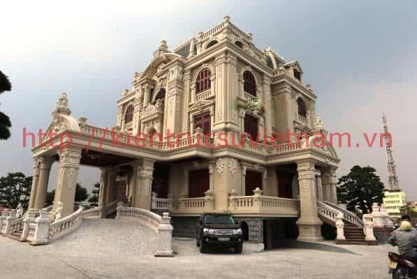 thiet ke lau dai 001b - Các dự án thiết kế lâu đài đẹp đã thực hiện