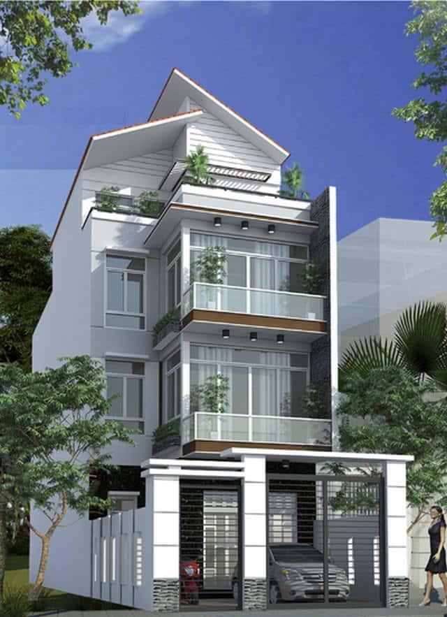 12 - Tư vấn  thiết kế nhà phố mặt tiền 6m