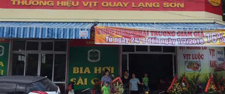 Nhà hàng Vịt Chính Hà ngon đẹp ở tại TP Hải Dương