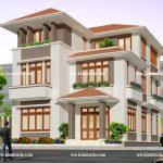 Mẫu thiết kế nhà phố mặt tiền 8m đẹp 150x150 - Thiết kế nhà đẹp ở tại Hà Nội