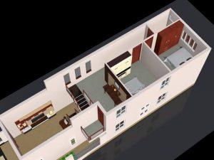 mẫu nhà 5x17m 300x225 - Mẫu thiết kế nhà 5x17m đẹp