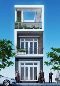 mau nha 150m2 dep 3 tang ms002 210x300 - Tư vấn thiết kế nhà phố 8x20m với kinh phí 600 triệu