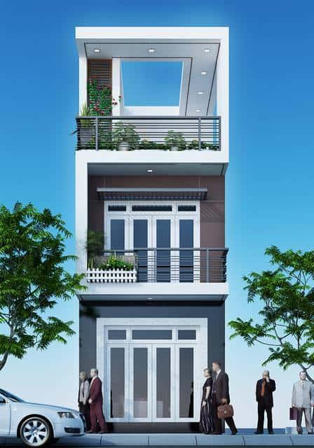 mau nha 150m2 dep 3 tang ms002 - Thiết kế nhà 3 tầng đẹp