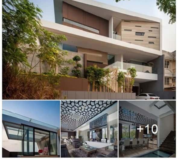mau nha dep 30 7 2016 ms00 - Mẫu thiết kế nhà đẹp có gra ô tô, gồm 2 tầng, với không gian rộng, thoáng