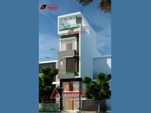 mau nha pho 50m2 4 tang 300x225 - Tư vấn thiết kế nhà phố 8x20m với kinh phí 600 triệu