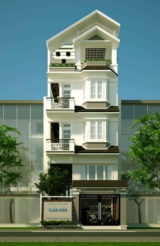 Mẫu thiết kế nhà phố 7x19m