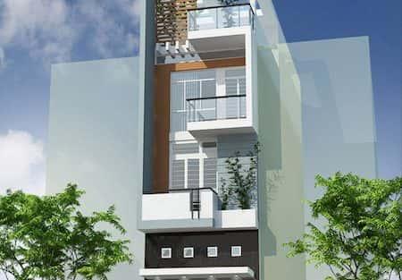 Mẫu thiết kế nhà phố 3.5x15m